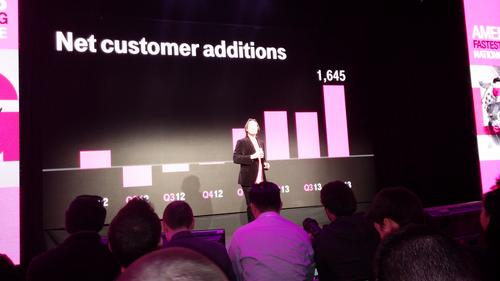 Legere trumpets the success of the 'Uncarrier' strategy.